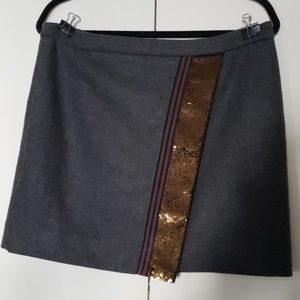 J. Crew wool miniskirt